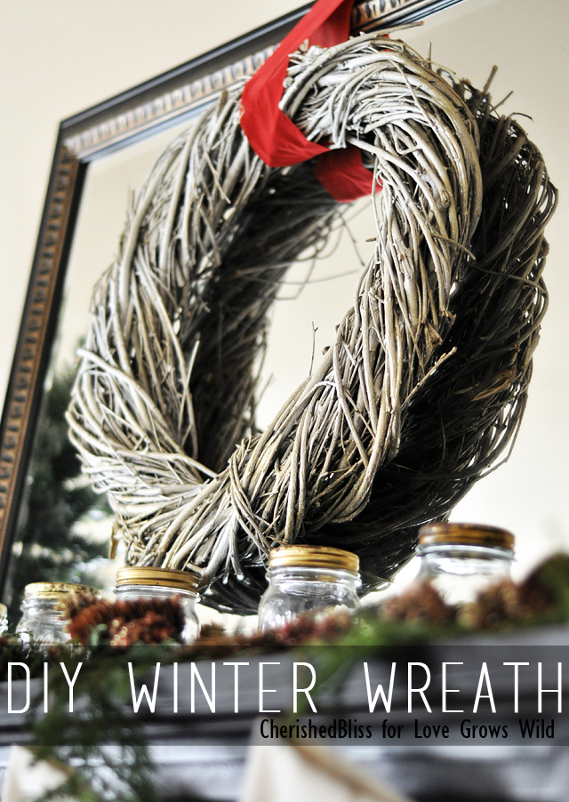 A DIY Winter Wreath that is perfect for Christmas and you can keep it up through the winter season!