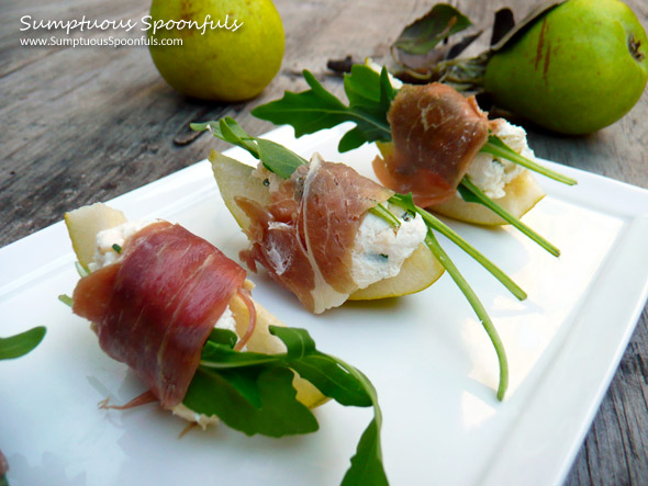 Prosciutto-Wrapped-Goat-Cheese-Pear-Bites-4
