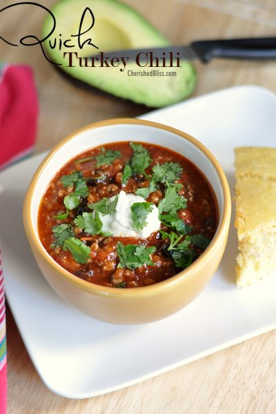 Quick Turkey Chili Recipe. A perfect family meal!