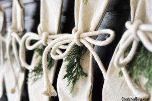cedar garland on stockings