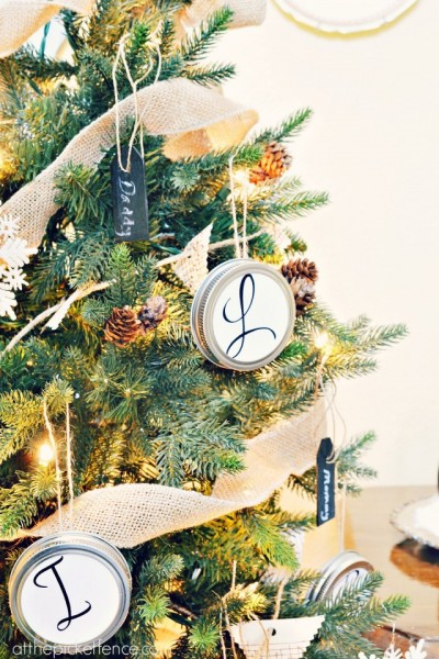 monogram Christmas tree from atthepicketfence.com