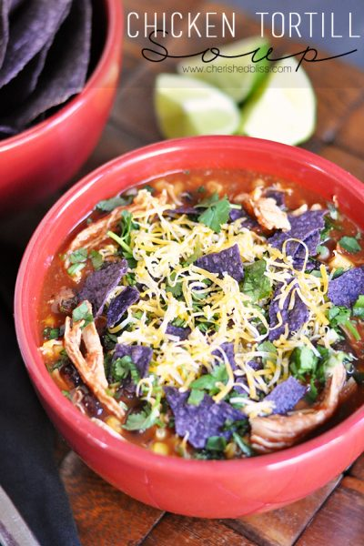 Try this Delicious Chicken Tortilla Soup - Absolutely DELICIOUS!