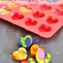 How to Make Heart Shaped Crayons. Perfect for Valentines Day!