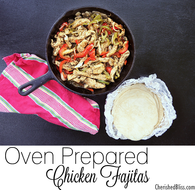 These Oven Chicken Fajitas are a great quick and easy family meal to keep things healthy!