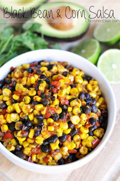 Warm Black Bean and Corn Salsa - Great on a Taco Salad!