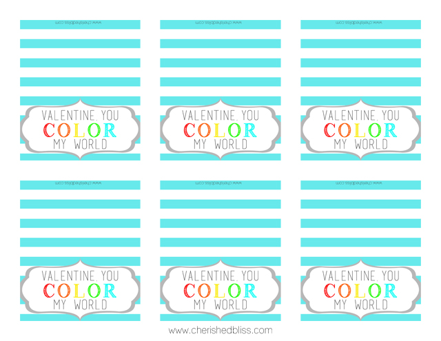You Color My World Printable - Aqua