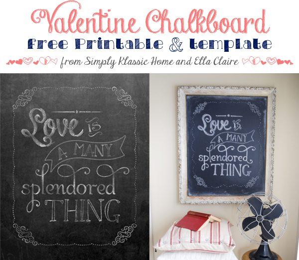 chalkboard valentine title