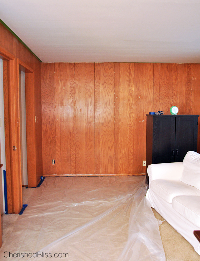How to paint wood paneling cherished bliss Can you paint wood paneling