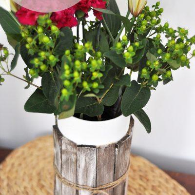 DIY Rustic Wood Shim Vase
