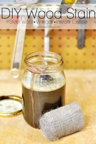 Make your own DIY wood stain using just steel wool, vinegar, and instant coffee