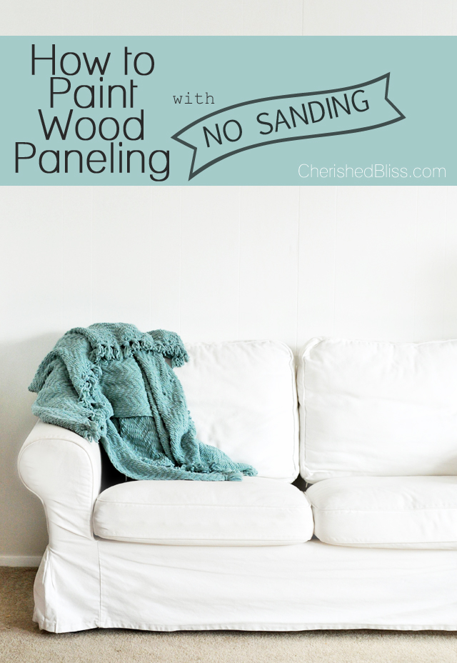 With this guide you can learn how to paint wood paneling the color you always dreamed of! The best part: NO SANDING REQUIRED!