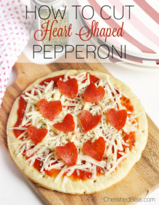 With this simple tutorial you can learn how to make Heart Shaped Pepperoni via cherishedbliss.com