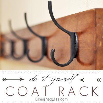 DIY Coat Rack Tutorial