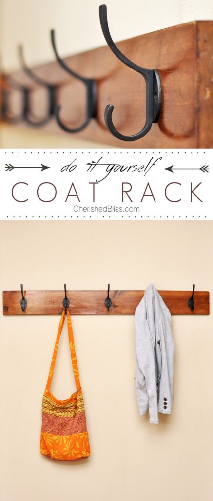 Learn how to make this DIY Coat Rack with just a few easy steps! Click ...