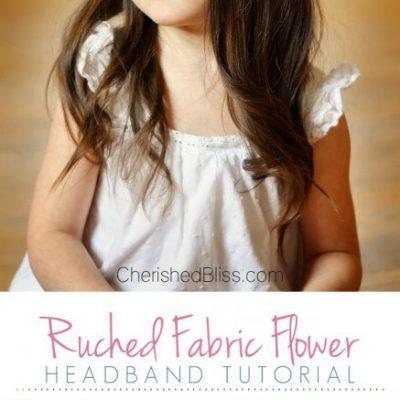 Ruched Fabric Flower Headband Tutorial
