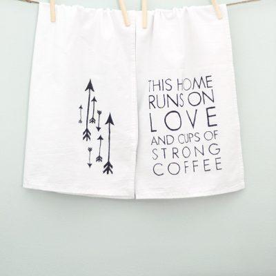 DIY Tea Towels {Love & Coffee}