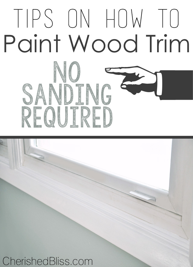 Tips on how to paint wood trim cherished bliss for How to paint trim