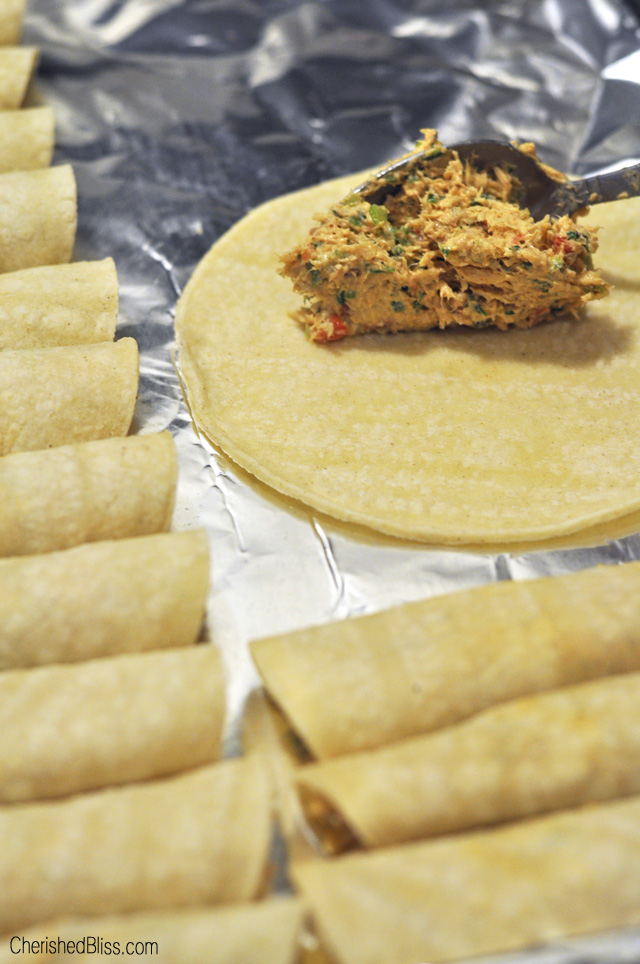 When I put Oven Baked Chicken Taquitos on the menu all my kiddos get so excited. I have been making these taquitos for a few years and they are always a crowd pleaser.
