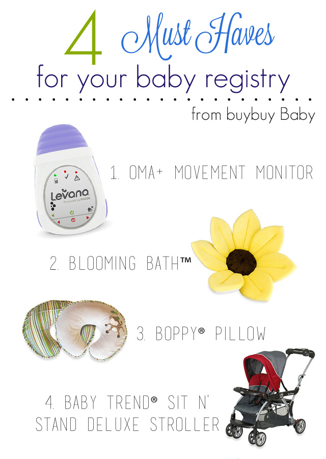 4 Baby Registry Must Haves #ad