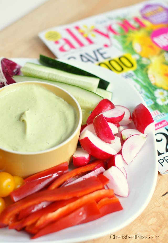 Curried Avocado and Yogurt Dip with All You Magazine #lifeforless #PMedia #ad