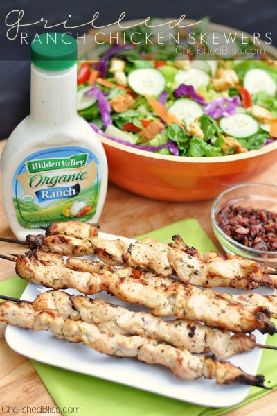 Grill Ranch Chicken Skewers