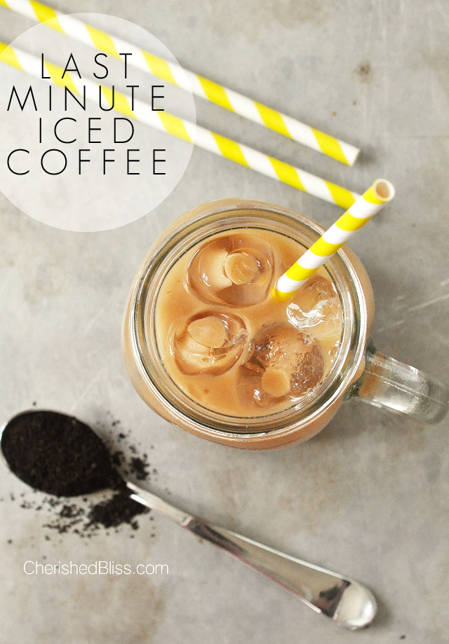 Do you love Iced Coffee? Enjoy this last minute Iced Coffee Recipe for those mornings when there just isn't enough time!  #coffeejourneys #shop #ad