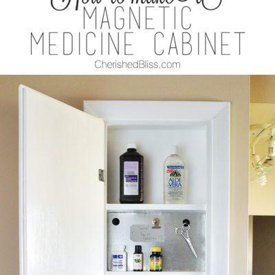 Bathroom Organization: Magnetic Medicine Cabinet