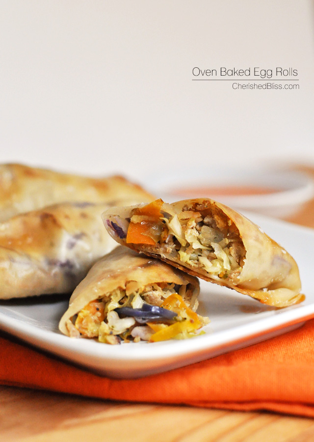 This recipe for oven baked egg rolls is a delicious and simple swap ...