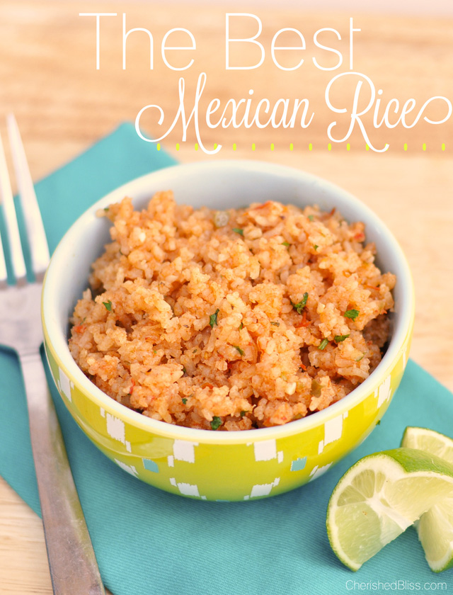 I have tried many recipes, but this recipe is hands down the best Mexican rice I have ever had.