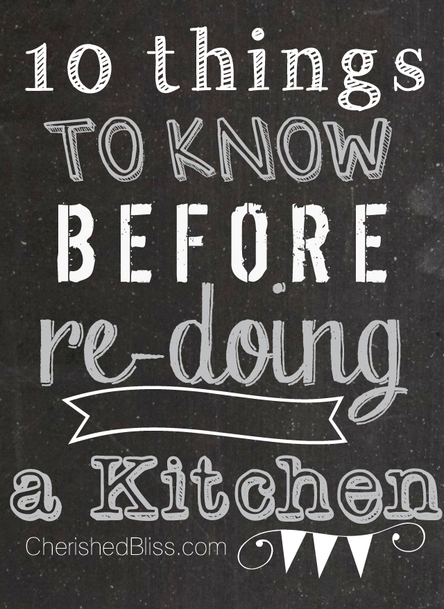 10 things to know before redoing a kitchen