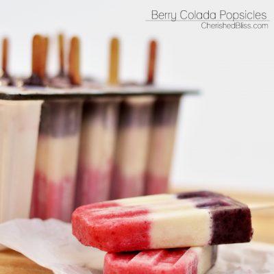 Berry Colada Popsicles