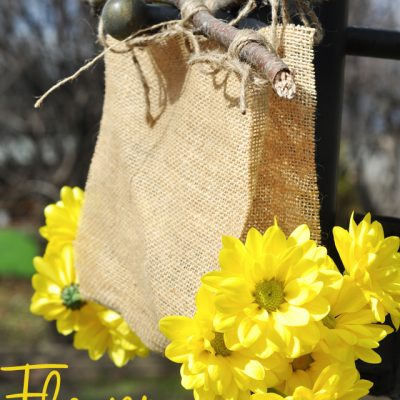 Burlap Flower Carrier Tutorial