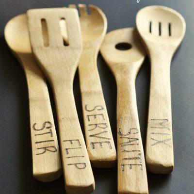 DIY Wood Burned Spoons Tutorial