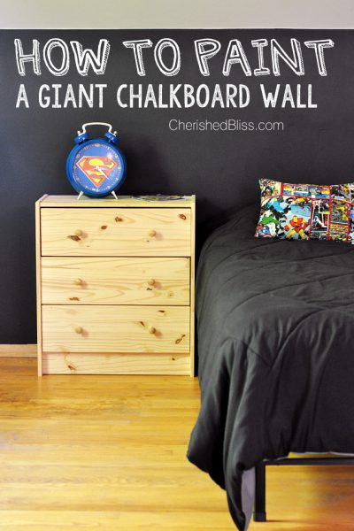 to Paint a Chalkboard Wall