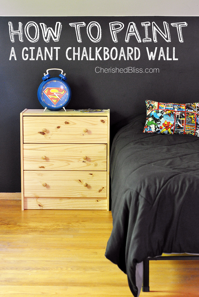 How to Paint a Chalkboard Wall - Cherished Bliss