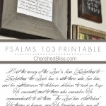 Psalms 103 Printable