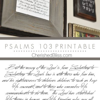 Psalms 103 Printable | Scripture Decor