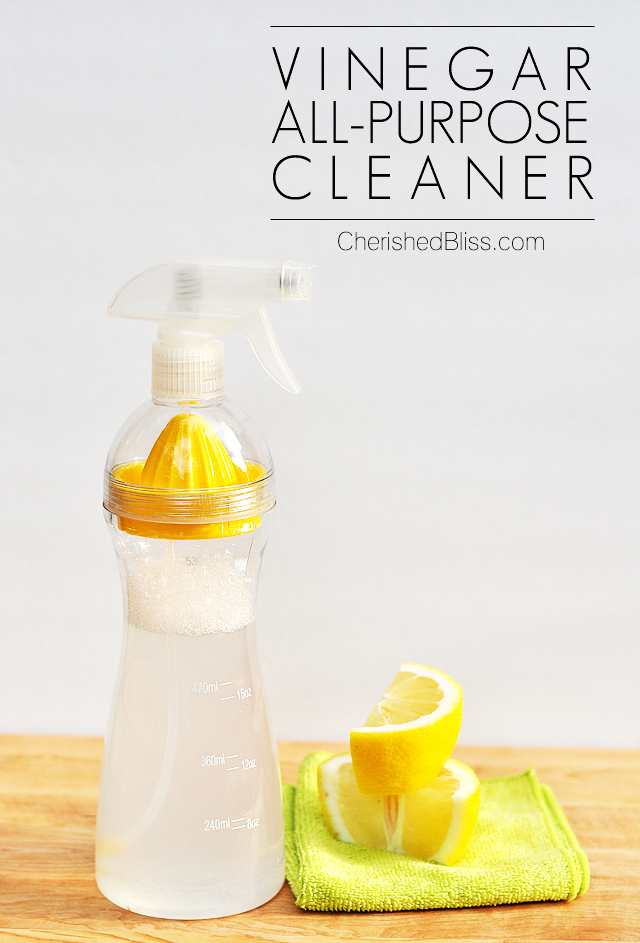 Looking for a safe alternative to cleaners? Try this Vinegar All Purpose Cleaner!