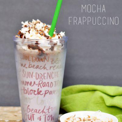 Coconut Mocha Frappuccino Recipe + a Giveaway