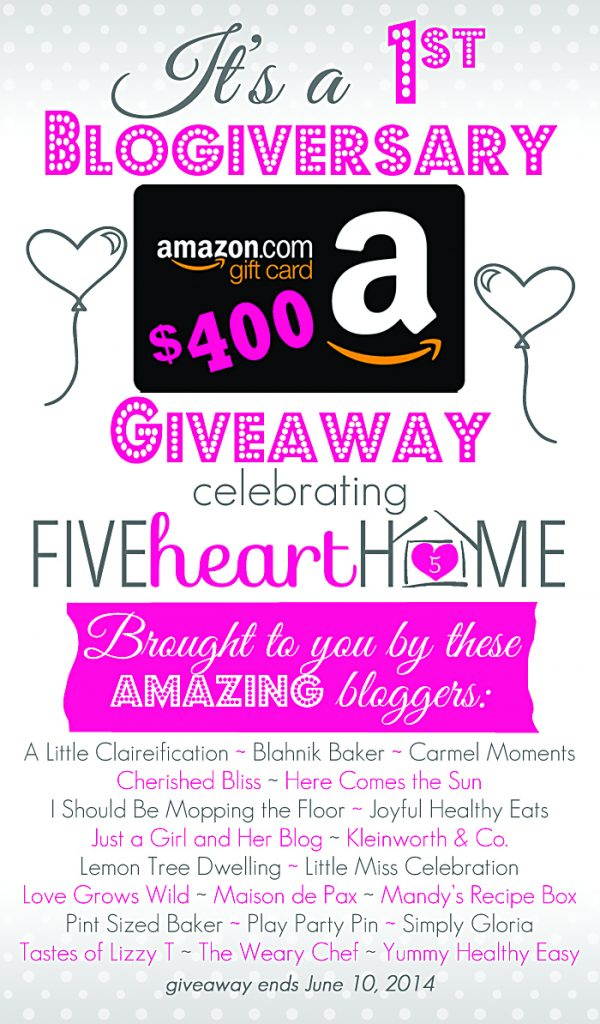 $400 Amazon Gift Card Giveaway. Perfect for all those summer needs!