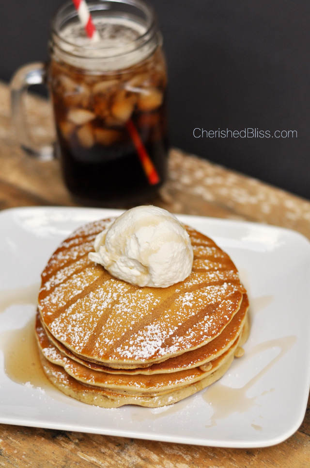 These Root Beer Pancakes are any root beer lovers dream. Get the recipe @ CherishedBliss.com