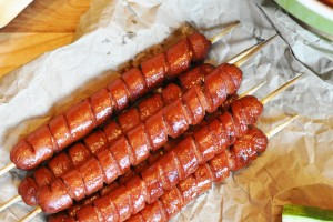 These grilled spiral cut hot dogs are a fun way to present the original hot dog and dress up your traditional cook out menu.