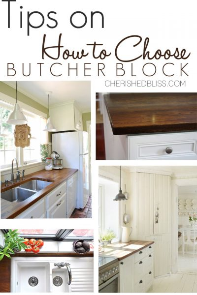 Tips for Choosing Butcher Block Counters. Get the perfect wood type and finish with these simple tips! @lumberliquidators #Kitchen #ad