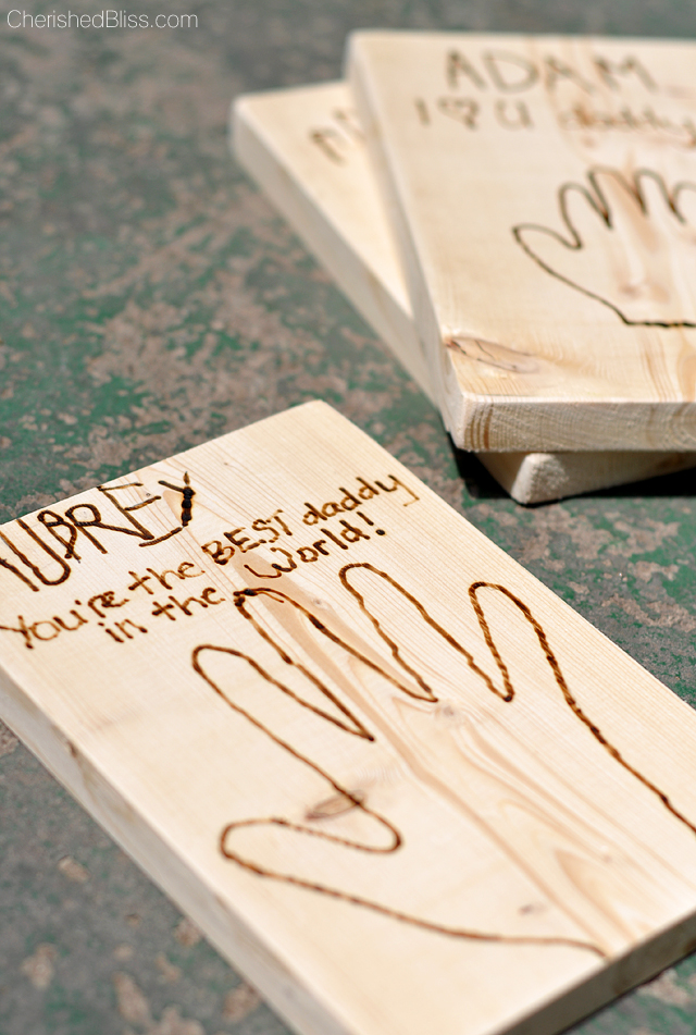Create the ultimate MAN CARD with this 1x6 and a tool that burns wood. Perfect for a father's day card!