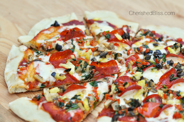 A simple tutorial for How to Grill Pizza @ CherishedBliss.com