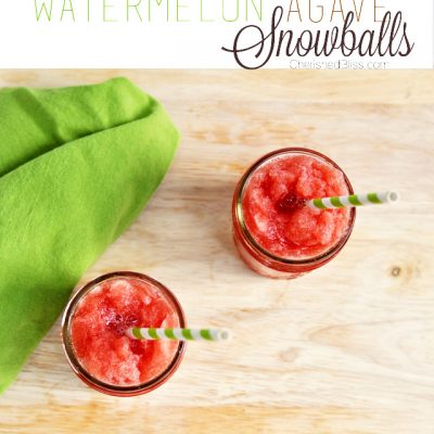 Watermelon Agave Snowballs