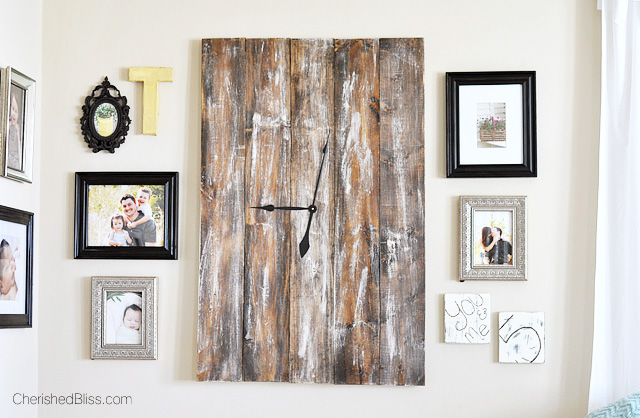 Make a statement with this large DIY Rustic Wooden Clock Tutorial