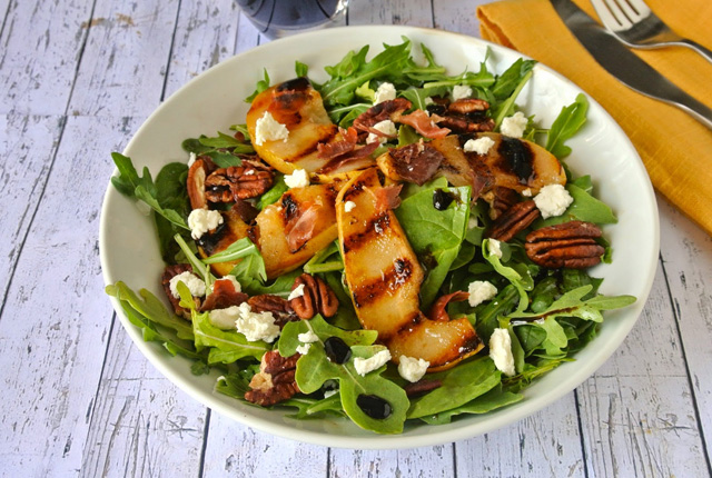 Grilled pear salad5