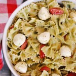 This Pesto Pasta Salad is super easy to throw together, yet fresh and delicious!