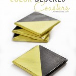 Distressed Color Blocked Coasters Tutorial via CherishedBliss.com